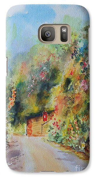 Galaxy Case featuring the painting Hillside Street Hythe Kent by Beatrice Cloake