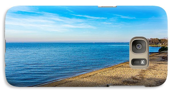 Galaxy Case featuring the photograph Hillsmere Beach On The Chesapeake by Charles Kraus