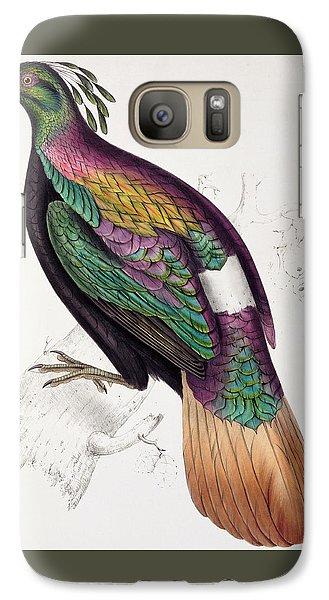 Himalayan Monal Pheasant Galaxy S7 Case by John Gould