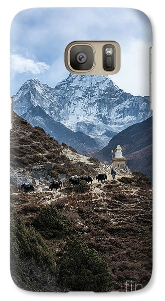 Galaxy Case featuring the photograph Himalayan Yak Train by Mike Reid