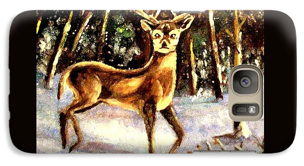 Galaxy Case featuring the painting Hinds Feet by Hazel Holland