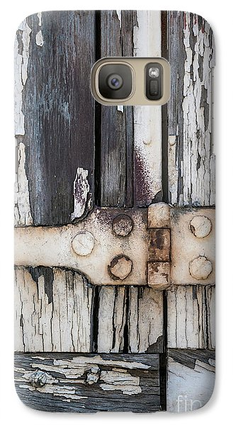Galaxy Case featuring the photograph Hinge On Old Shutters by Elena Elisseeva