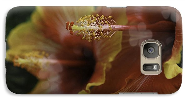 Galaxy Case featuring the photograph Hippi Hibiscus by Lori Mellen-Pagliaro