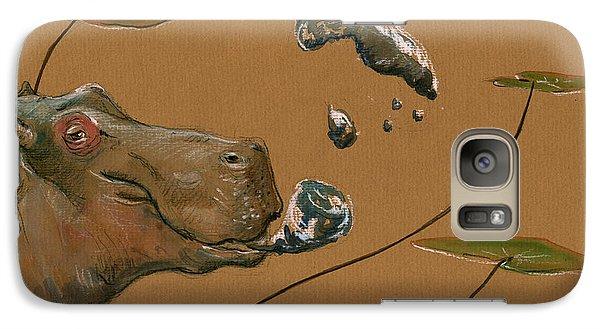 Hippo Bubbles Galaxy S7 Case