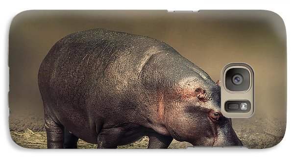 Galaxy Case featuring the photograph Hippo by Charuhas Images