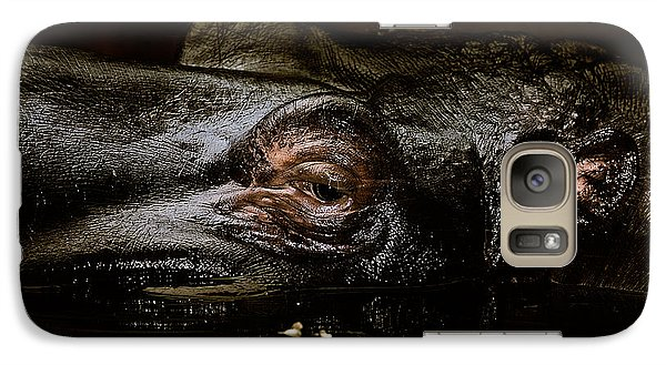 Galaxy Case featuring the photograph Hippo by Joerg Lingnau