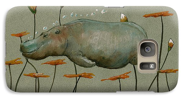 Hippo Underwater Galaxy Case by Juan  Bosco