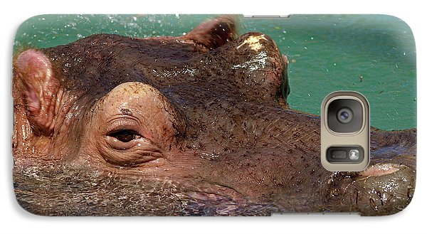 Galaxy Case featuring the photograph Hippopotamus by JT Lewis