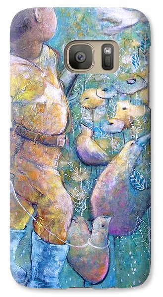 Galaxy Case featuring the painting His Dream by Eleatta Diver