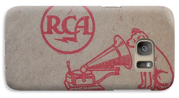 Galaxy Case featuring the photograph His Masters Voice Rca by Edward Fielding