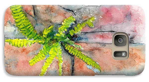 Galaxy Case featuring the painting Historic Savannah Wall Weed by Doris Blessington