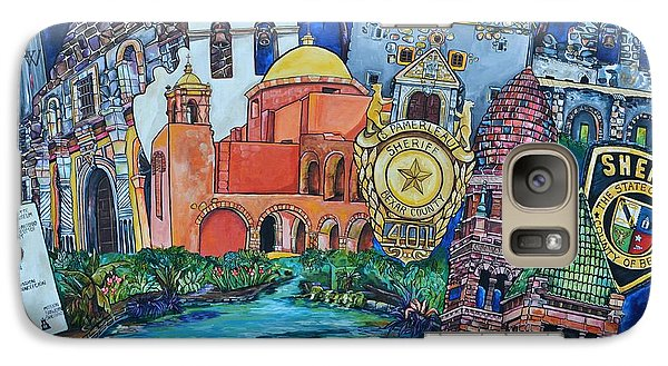 Galaxy Case featuring the painting Historical 401s San Antonio by Patti Schermerhorn