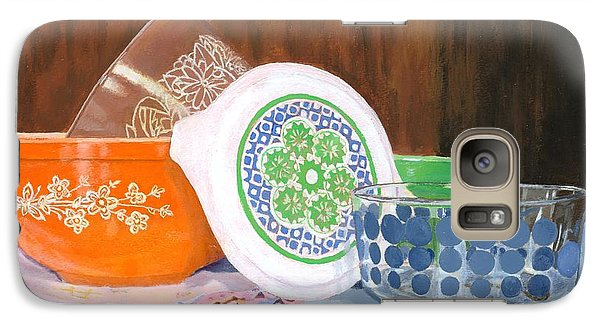 Galaxy Case featuring the painting History Of Pyrex by Lynne Reichhart
