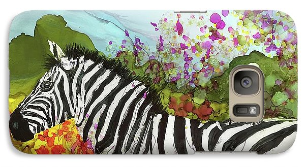 Galaxy Case featuring the painting Hitching A Ride by Suzanne Canner