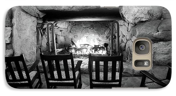 Galaxy Case featuring the photograph Winter Warmth In Black And White by Karen Wiles