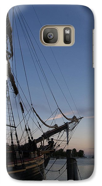 Galaxy Case featuring the photograph Hms Bounty Ship - Sunset At The Cove by Margie Avellino