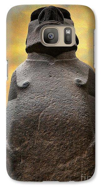 Galaxy Case featuring the photograph Hoa Hakananaia by Adrian Evans