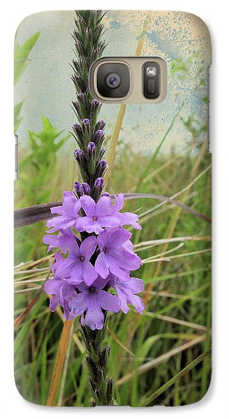 Galaxy Case featuring the photograph Hoary Vervain by Scott Kingery