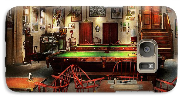 Galaxy Case featuring the photograph Hobby - Pool - The Billiards Club 1915 by Mike Savad