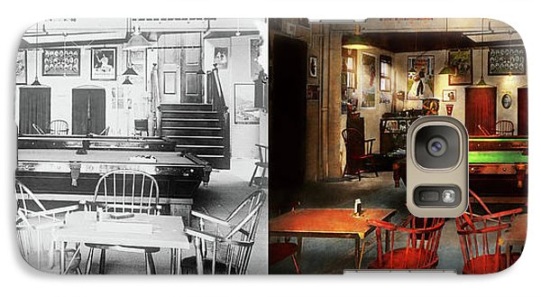 Galaxy Case featuring the photograph Hobby - Pool - The Billiards Club 1915 - Side By Side by Mike Savad