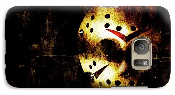 Hockey Galaxy S7 Case - Hockey Mask Horror by Jorgo Photography - Wall Art Gallery
