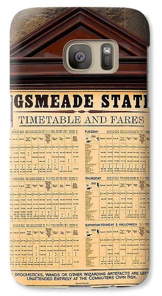 Galaxy Case featuring the photograph Hogsmeade Station Timetable by Juergen Weiss