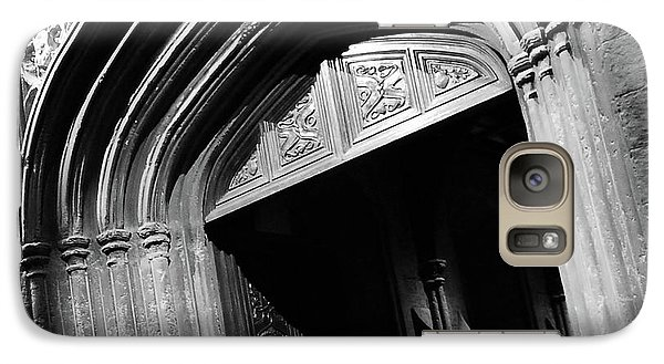 Galaxy Case featuring the mixed media Hogwards Door  by Gina Dsgn