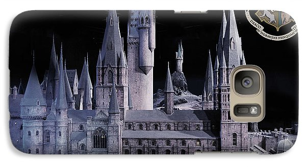 Galaxy Case featuring the mixed media Hogwards School  by Gina Dsgn
