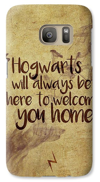Wizard Galaxy S7 Case - Hogwarts Is Home by Samuel Whitton