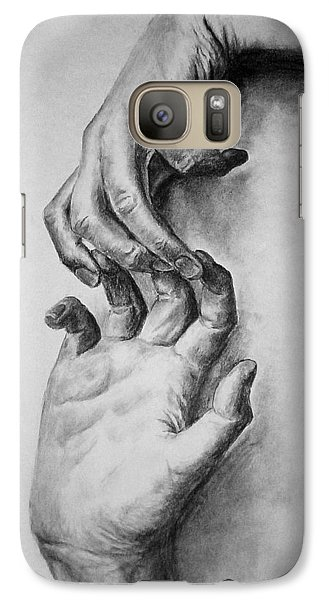 Galaxy Case featuring the drawing Hold On by Rachel Hames