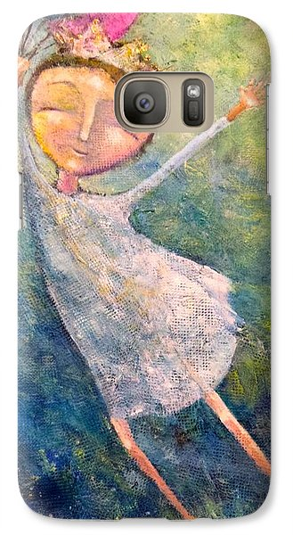 Galaxy Case featuring the painting Hold On Tight by Eleatta Diver