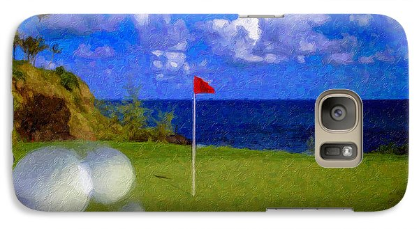 Galaxy Case featuring the photograph Fantastic 18th Green by David Zanzinger