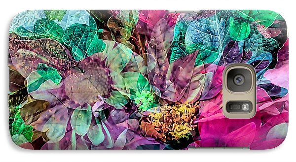 Galaxy Case featuring the photograph Holiday Floral Composite by Janice Drew