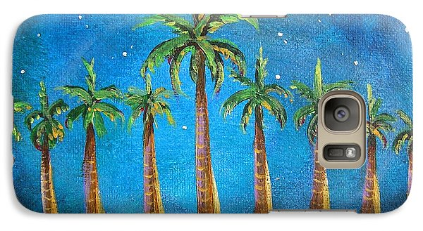 Galaxy Case featuring the painting Holiday Palms by Patricia Piffath