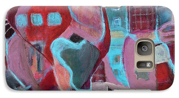 Galaxy Case featuring the painting Holiday Windows by Susan Stone