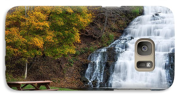 Galaxy Case featuring the photograph Holley Canal Falls by Mark Papke