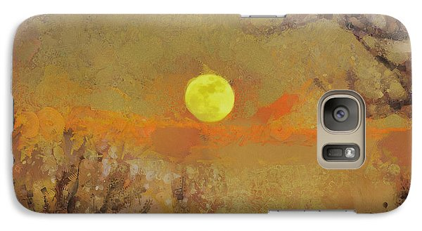 Galaxy Case featuring the mixed media Hollow's Eve by Trish Tritz