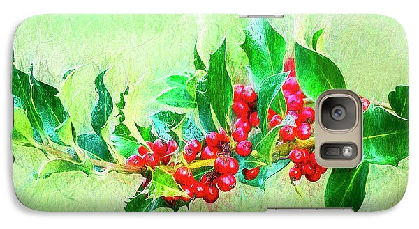 Galaxy Case featuring the photograph Holly Berries Photo Art by Sharon Talson