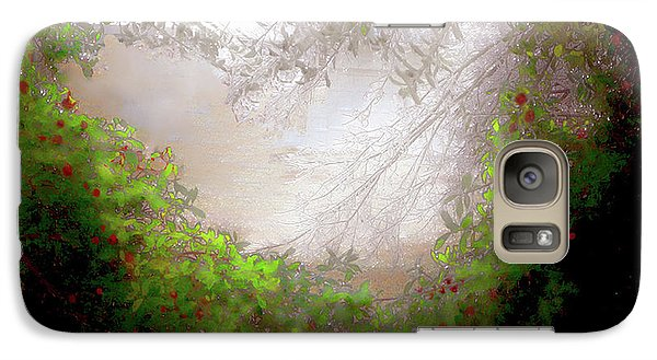Galaxy Case featuring the photograph Holly Heart by Bonnie Willis