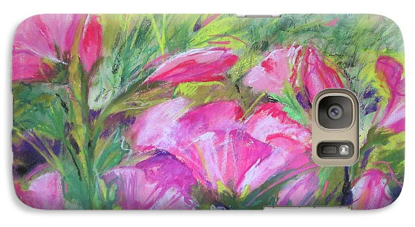 Galaxy Case featuring the painting Hollyhock Breeze by Susan Herbst