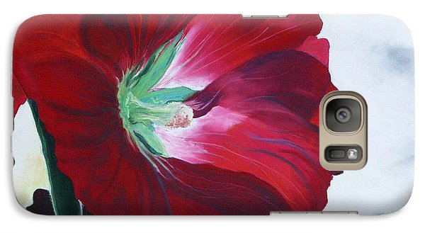 Galaxy Case featuring the painting Hollyhock by Jane Autry