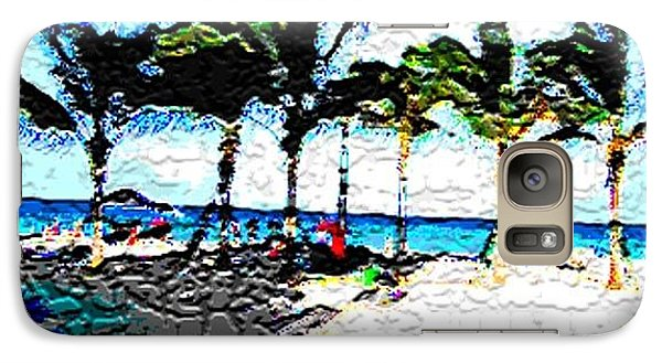 Galaxy Case featuring the photograph Hollywood Beach Fla Digital by Dick Sauer