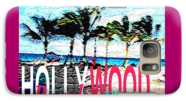 Galaxy Case featuring the photograph Hollywood Beach Fla Poster by Dick Sauer