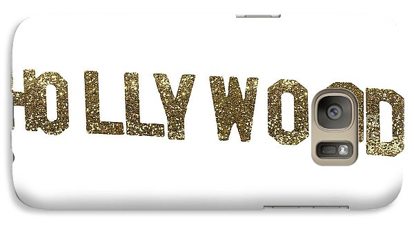 Beverly Hills Galaxy S7 Case - Hollywood Gold Glitter Sign by Mindy Sommers