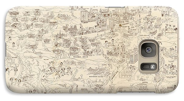 Hollywood Map To The Stars 1937 Galaxy S7 Case