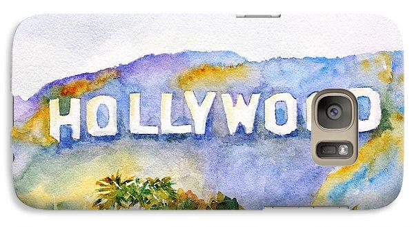 Hollywood Galaxy S7 Case - Hollywood Sign California by Carlin Blahnik CarlinArtWatercolor