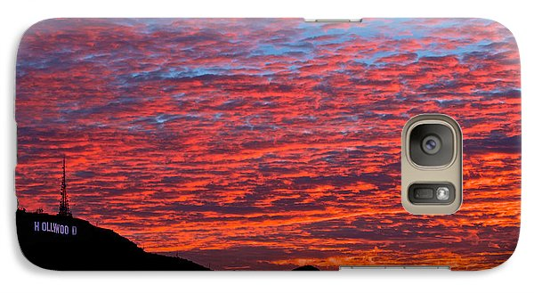 Galaxy Case featuring the photograph Hollywood Sunrise by Kim Wilson