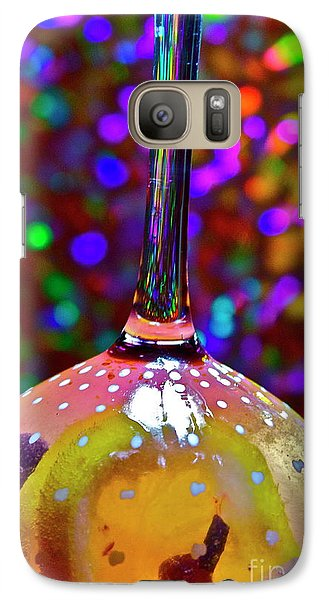 Galaxy Case featuring the photograph Holographic Fruit Drop by Xn Tyler