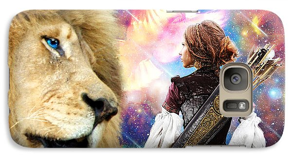 Galaxy Case featuring the digital art Holy Calling by Dolores Develde