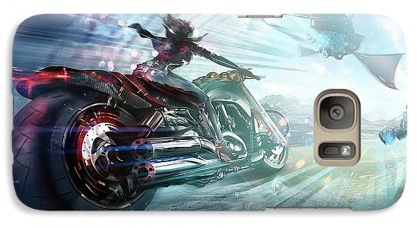 Galaxy Case featuring the photograph Holy Crap That Is Fast. by Lawrence Christopher